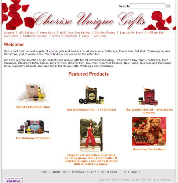 Cherise Unique Gifts Website
