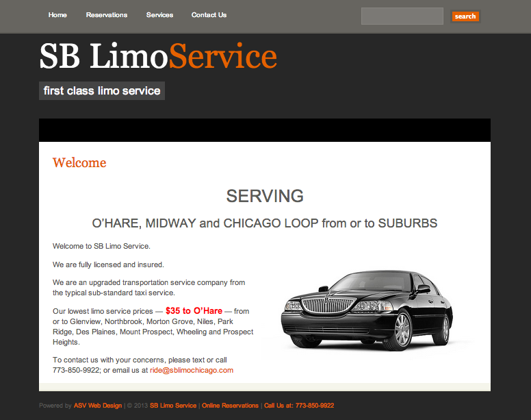 SB Limo Service First Class Limo ServiceSB Limo Service 35 to and from O Hare SB Limo Service
