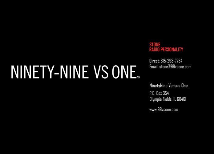 Ninety-Nine VS One – Business Card Front