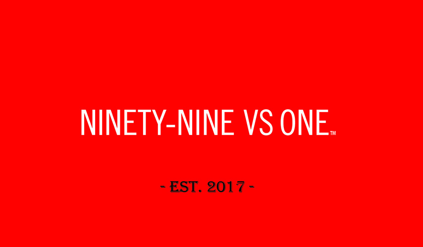 Ninety-Nine VS One – Business Card Back