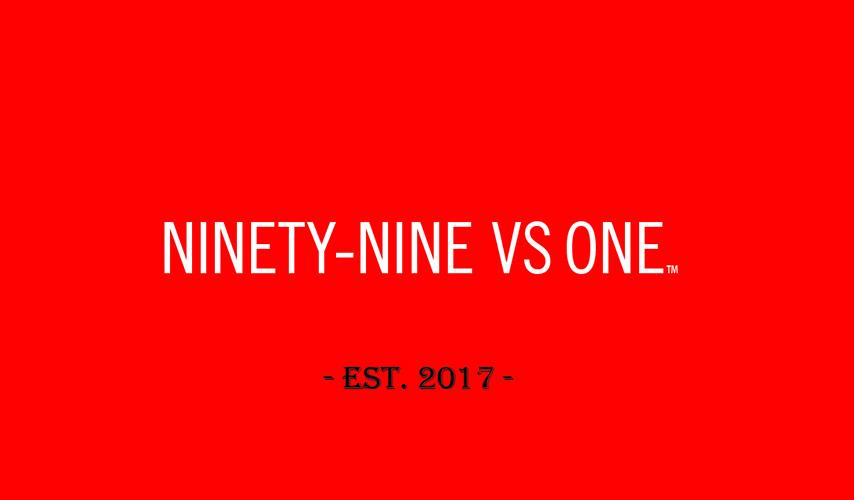 Ninety-Nine VS One – Business Card Back