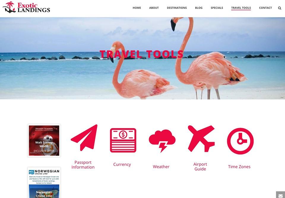 exotic landings – travel tools